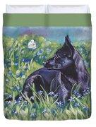 Black Australian Kelpie Duvet Cover