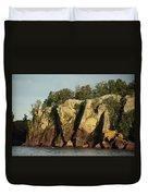 Black Beach Island Duvet Cover