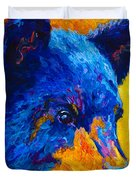Black Bear Cub 2 Duvet Cover