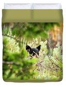 Black Bear Cub Duvet Cover