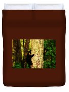 Black Bear Cubs Duvet Cover by Gray  Artus