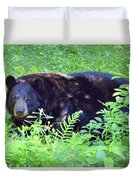 A Florida Black Bear Duvet Cover