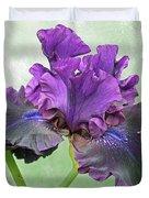 Black Bearded Iris Duvet Cover