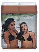 Black Bikinis 2 Duvet Cover