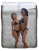 Black Bikinis 20 Duvet Cover