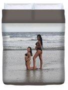 Black Bikinis 33 Duvet Cover