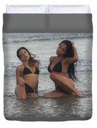 Black Bikinis 39 Duvet Cover