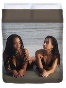 Black Bikinis 45 Duvet Cover