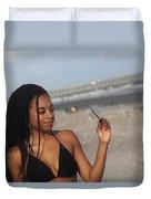 Black Bikinis 55 Duvet Cover