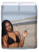 Black Bikinis 57 Duvet Cover