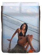 Black Bikinis 64 Duvet Cover