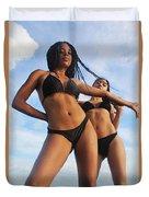Black Bikinis 66 Duvet Cover
