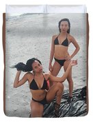 Black Bikinis 7 Duvet Cover