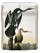 Black Billed Darter Duvet Cover by John James Audubon