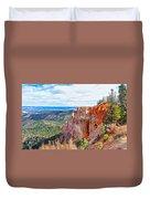 Black Birch Canyon Duvet Cover