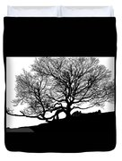 Black Birch Silhouette 2009 07 Duvet Cover