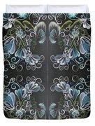 Black Blue Green Duvet Cover
