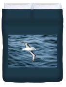 Black-browed Albatross Gliding Over Deep Blue Waves Duvet Cover