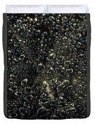Black Bubbles Duvet Cover