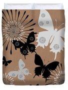 Black Butterflies Duvet Cover