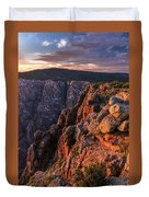 Black Canyon Sunset Glow Duvet Cover