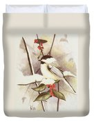 Black-capped Chickadee Duvet Cover