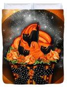 Black Cat Cupcake Duvet Cover