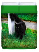 Black Cat Maine Duvet Cover