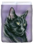 Black Cat Sith Duvet Cover by MM Anderson
