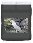 Black Crowned Night Heron Duvet Cover
