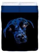 Black Dog Duvet Cover