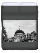 Black Dome Duvet Cover