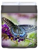 Black Eastern Swallowtail Duvet Cover