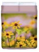 Black Eyed Susan Sunflowers In Field Duvet Cover