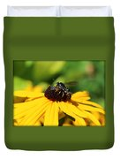 Black Eyed Susan With Wasp Duvet Cover