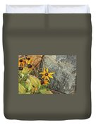 Black Eyed Susans Next Gray And Black Rock Fading Foliage Green 2 10222017 Colorado Duvet Cover