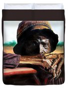 Black Farmer Duvet Cover