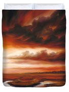 Black Fire Duvet Cover