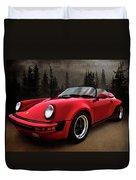 Black Forest - Red Speedster Duvet Cover