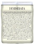 Black Border Sunburst Desiderata Poem Duvet Cover