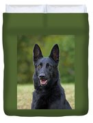 Black German Shepherd Dog Duvet Cover