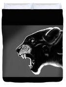 Black Glow Tiger Duvet Cover