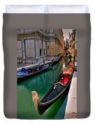 Black Gondola Duvet Cover