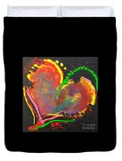 Abstract Multi Colored Heart Duvet Cover