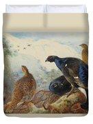 Black Grouse And Gamebirds By Thorburn Duvet Cover