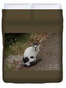 Black Heart Cat Duvet Cover