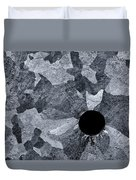 Black Hole - Galvanized Steel - Abstract Duvet Cover
