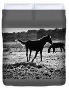 Black Horse. Duvet Cover