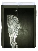 Black Horse Sight Duvet Cover