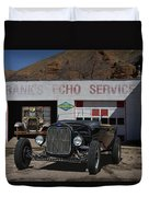 Black Ford Hot Rod Convertible Duvet Cover